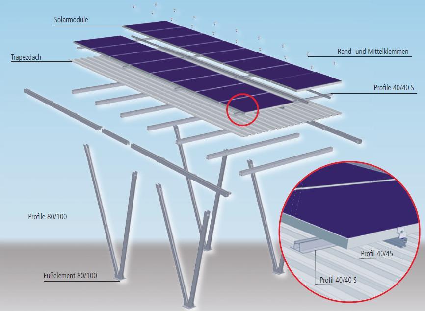 vm carport solar carport im baukastensystem zur. Black Bedroom Furniture Sets. Home Design Ideas