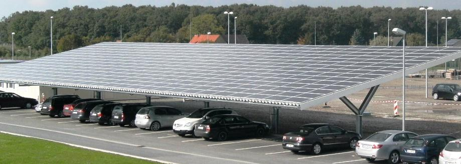 carport system mit photovoltaik anlage bild new power project
