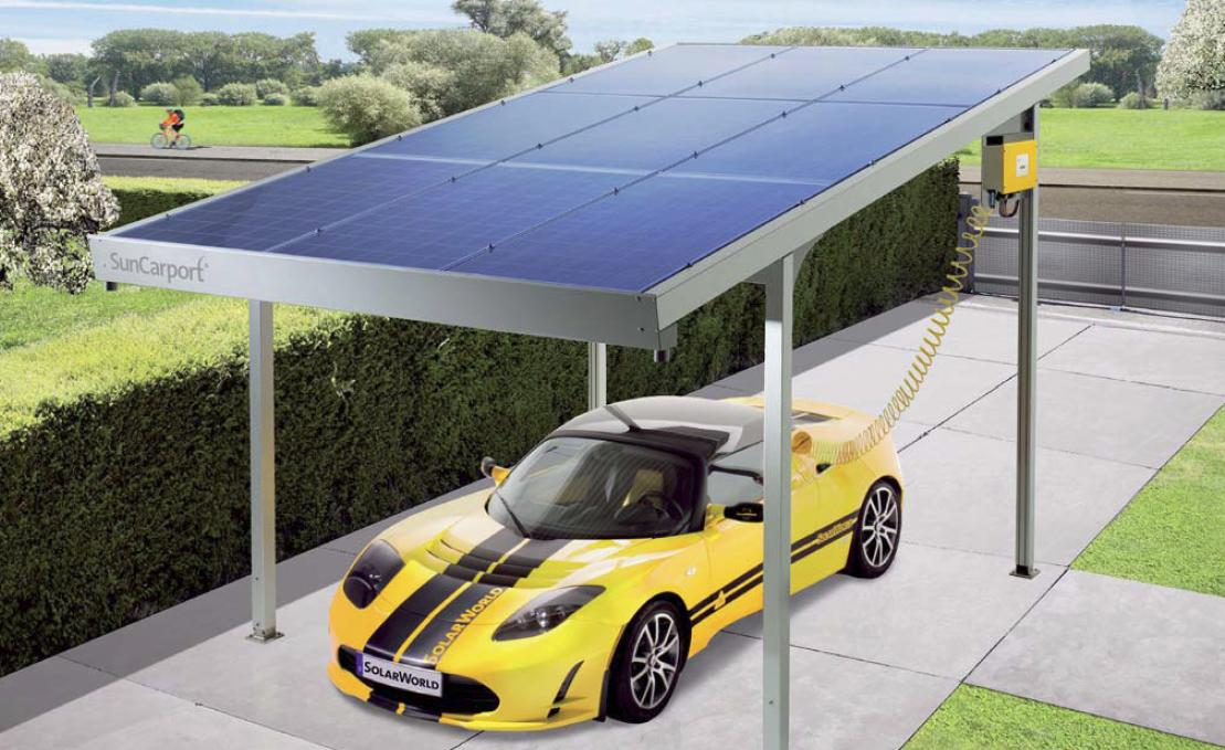 suncarport das solar carport von solarworld solar. Black Bedroom Furniture Sets. Home Design Ideas