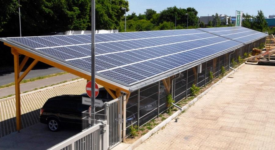 easysolarcarport solarcarport in holzbauweise solar. Black Bedroom Furniture Sets. Home Design Ideas